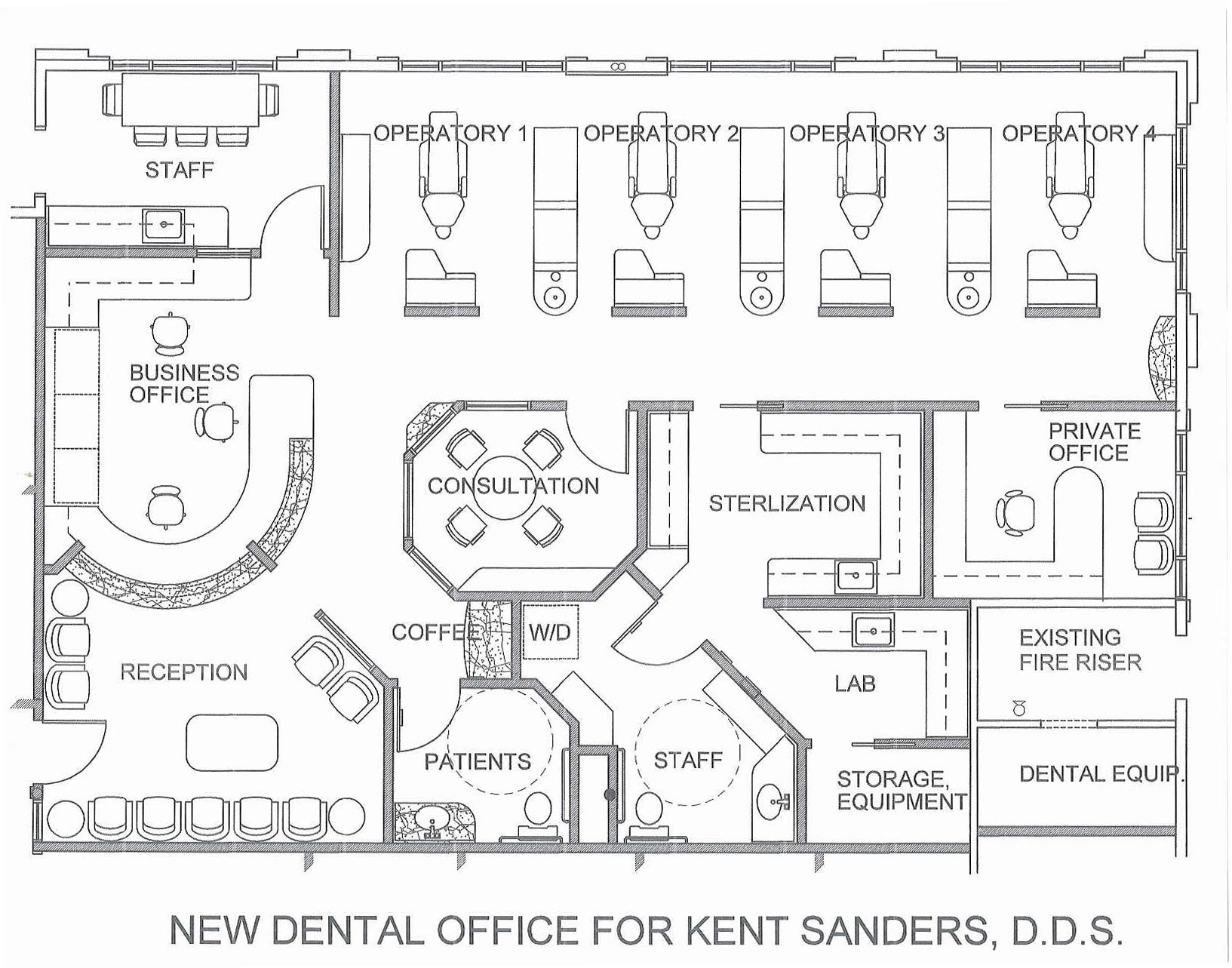 T michael hadley architect sedona arizona architecture interior design for Orthodontic office design floor plan